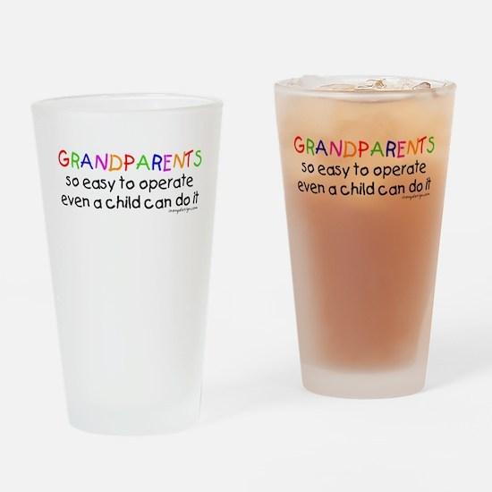Grandparents Drinking Glass