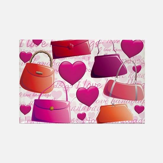 I love Handbags Rectangle Magnet