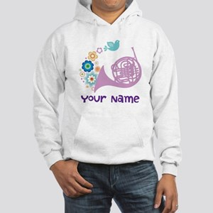 Personalized French Horn Hooded Sweatshirt