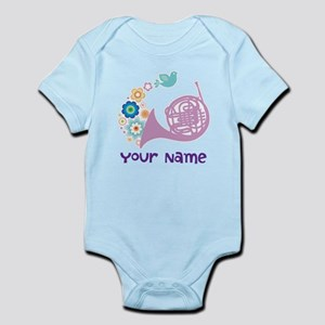 Personalized French Horn Infant Bodysuit