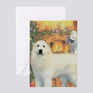 Great Pyrenees Christmas Card Greeting Cards