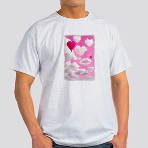 Heart Clouds and Balloon Light T-Shirt