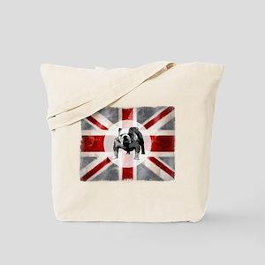 Union Jack and Bulldog Tote Bag