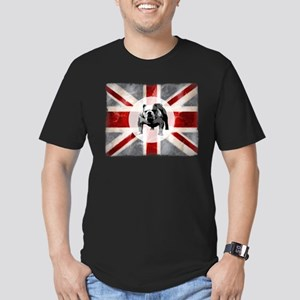 Union Jack and Bulldog Men's Fitted T-Shirt (dark)