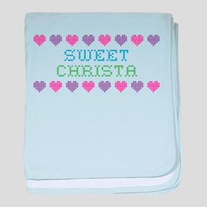 Sweet CHRISTA baby blanket
