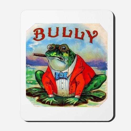 Bully Bullfrog Cigar Label Mousepad