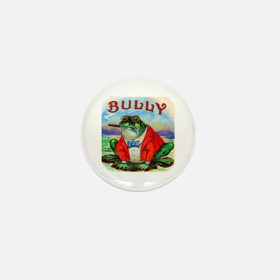 Bully Bullfrog Cigar Label Mini Button