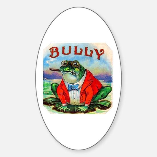 Bully Bullfrog Cigar Label Sticker (Oval)