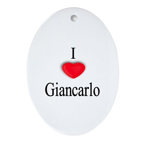 Giancarlo Oval Ornament