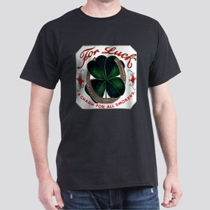For Luck Cigar Label Dark T-Shirt