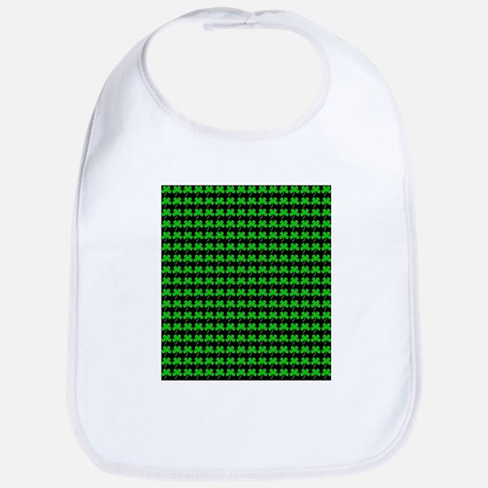 Green Shamrocks St. Patricks Day 4Sean Baby Bib