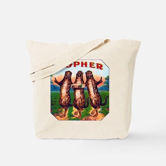 Gophers Cigar Label Tote Bag