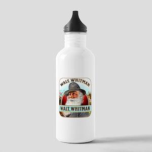 Walt Whitman Cigar Label Stainless Water Bottle 1.