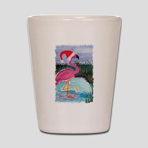 Santa Flamingo Shot Glass