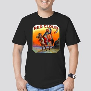 Red Cloud Cigar Label Men's Fitted T-Shirt (dark)