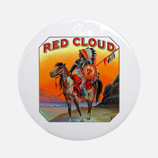 Red Cloud Cigar Label Ornament (Round)