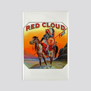 Red Cloud Cigar Label Rectangle Magnet