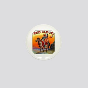 Red Cloud Cigar Label Mini Button