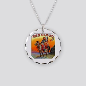 Red Cloud Cigar Label Necklace Circle Charm