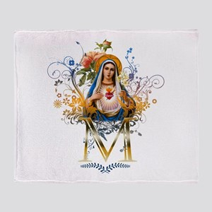 Immaculate Heart of Mary Throw Blanket