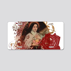 St. Therese Aluminum License Plate
