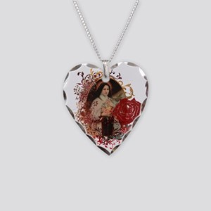 St. Therese Necklace Heart Charm