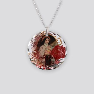 St. Therese Necklace Circle Charm