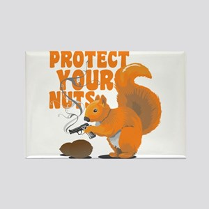 Protect Your Nuts Rectangle Magnet