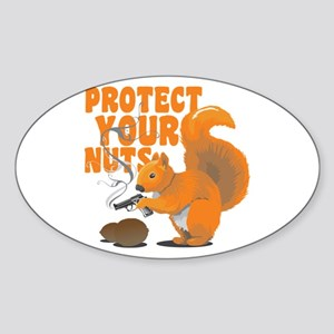 Protect Your Nuts Sticker (Oval)