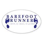 Barefoot Runner Decal Sticker
