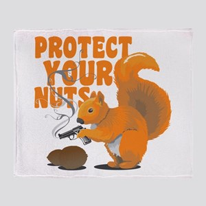 Protect Your Nuts Throw Blanket
