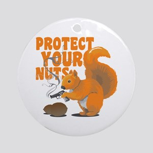 Protect Your Nuts Ornament (Round)