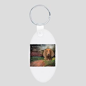 """Why God Made Dogs"" Dachshund Aluminum Oval Keycha"