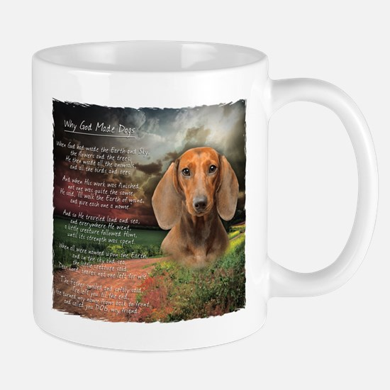"""Why God Made Dogs"" Dachshund Mug"