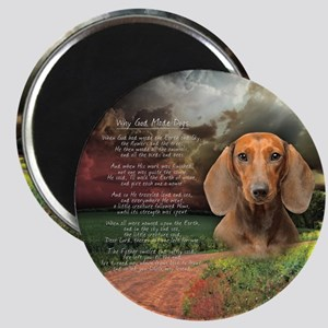 """Why God Made Dogs"" Dachshund Magnet"
