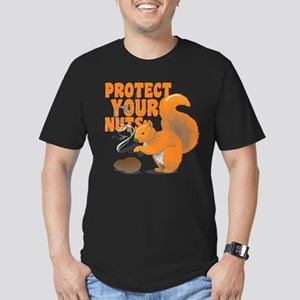 Protect Your Nuts Men's Fitted T-Shirt (dark)