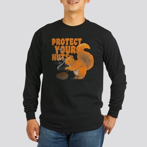 Protect Your Nuts Long Sleeve Dark T-Shirt