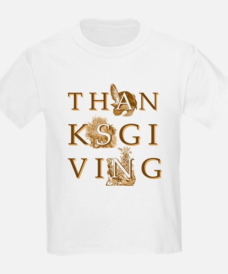 Victorian Thanksgiving Kids T-Shirt