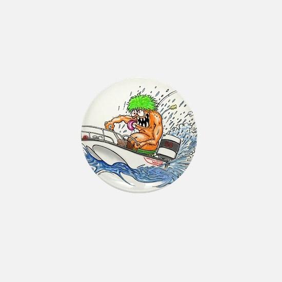 Whaler - Rat Fink Style Mini Button