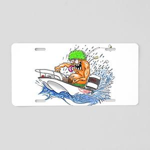 Whaler - Rat Fink Style Aluminum License Plate
