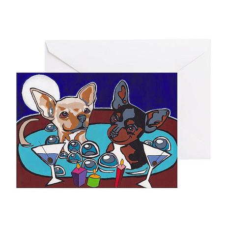 Chihuahua Hot Tub Greeting Cards (Pk of 10)