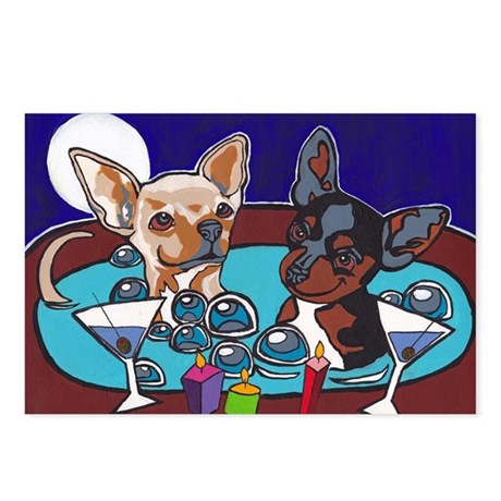 Chihuahua Hot Tub Postcards (Package of 8)