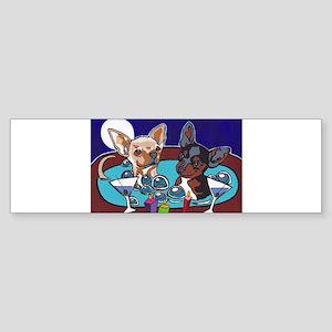 Chihuahua Hot Tub Sticker (Bumper)