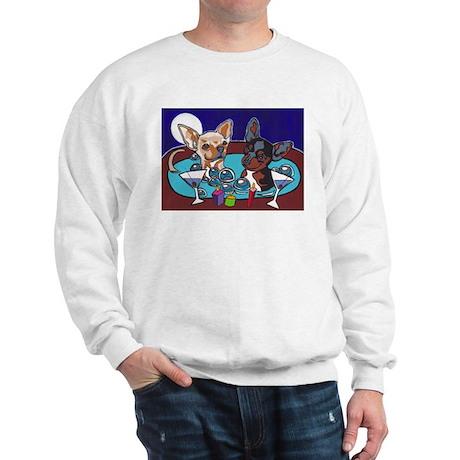 Chihuahua Hot Tub Sweatshirt