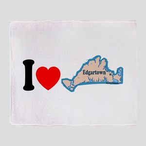 Edgartown MA - I Love Design. Throw Blanket