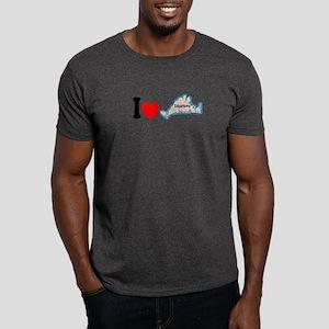 Edgartown MA - I Love Design. Dark T-Shirt