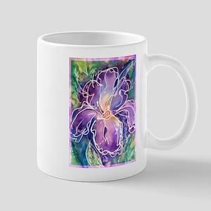 Iris! Purple flower, art! Mug