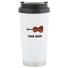 Personalized Violin Stainless Steel Travel Mug