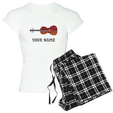 Personalized Violin Women's Light Pajamas