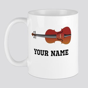 Personalized Violin Mug